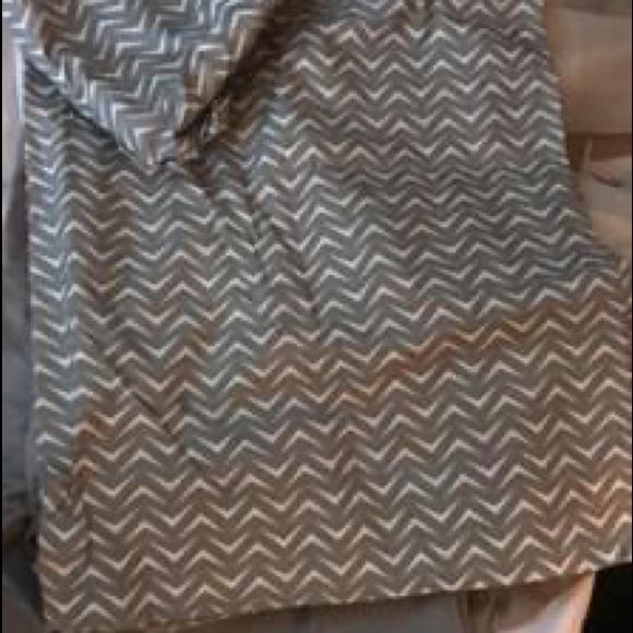 Curtain Set - Chevron and Grey